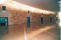 15- courtrooms shaped as ancient Jewish tombs, you enter them, missing keystones